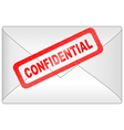 confidential letter vector image vector image