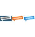 coronavirus banner sign coronavirus speech bubble vector image vector image
