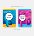 cover design gradient fluid liquid shapes vector image