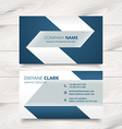 creative simple business card design vector image vector image