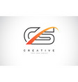cs c s swoosh letter logo design with modern vector image vector image