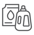 detergent line icon laundry and wash jerrycan vector image vector image