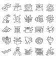 e-commerce icon set hand drawn icon set outline vector image vector image