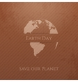 Earth Day cardboard Banner Template vector image