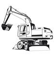excavator outline vector image vector image
