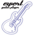 Expert Guitar Player vector image