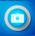 first aid box and medical symbol star of life vector image