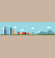 flat cityscape and landscape vector image