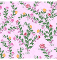 Floral seamless pattern with flowering plants vector image vector image