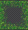 frame or border of random scatter clover leaves vector image vector image