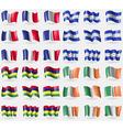 France Honduras Mauritius Ireland Set of 36 flags vector image vector image