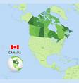 green canada administrative map vector image vector image