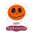 halloween card with funny pumpkin isolated on vector image vector image