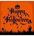 halloween night background with pumpkin and vector image vector image