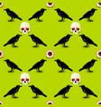 halloween symbols seamless pattern vector image