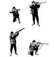 hunters sketch set vector image