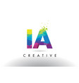 ia i a colorful letter origami triangles design vector image vector image