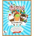 Ice Cream festival retro poster vector image vector image