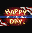 independence day background with american vector image