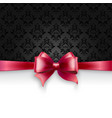 Invitation card with Pink holiday ribbon on vector image