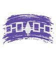 iroquois confederacy haudenosaunee flag in grunge vector image vector image
