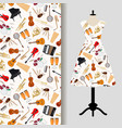 jazz musical instruments dress fabric pattern vector image vector image