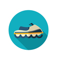 Jet Ski flat icon Summer Vacation vector image