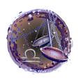 libra is a sign zodiac vector image vector image