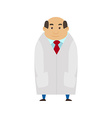 Medical man on white coat Cartoon Character Flat vector image