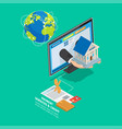 online payment and credit services concept vector image vector image