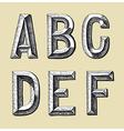 original hand draw sketch alphabet design vector image vector image