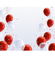 party balloons transparent background vector image vector image