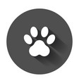 paw print icon dog cat bear paw symbol flat vector image vector image