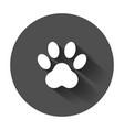 paw print icon dog cat bear symbol flat vector image vector image