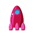 Pink Spaceship Toy Aircraft Icon vector image vector image