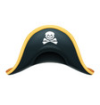 pirate hat corsair headgear vector image