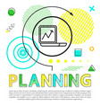 planning process colorful vector image vector image