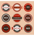 Racing insignia - vintage style vector image vector image