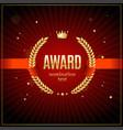 realistic detailed 3d laurel wreath award emblem vector image vector image