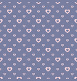 romantic seamless pattern with small hearts vector image vector image