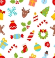 Seamless Pattern with Christmas Traditional vector image