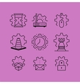 set line icons in flat style vector image