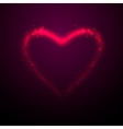 shine glow pink heart vector image vector image