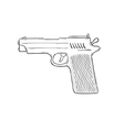 sketch of the gun vector image vector image