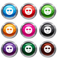 smiling emotset 9 collection vector image