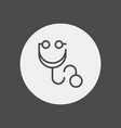 stethoscope icon sign symbol vector image