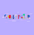 summer background with signs and symbols vector image
