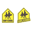 Surfing school logo vector image