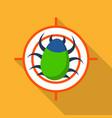 target virus internet icon flat style vector image