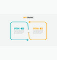 thin line infographic design with 2 options vector image vector image